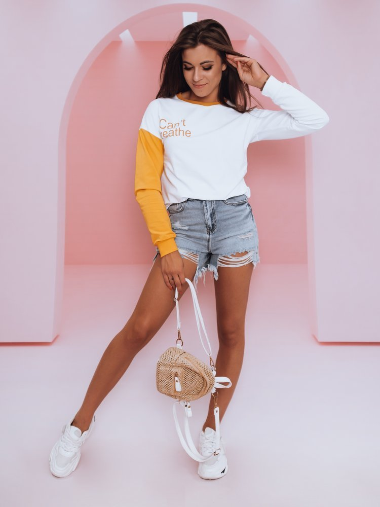 Bluza damska I CAN'T żółta BY0381