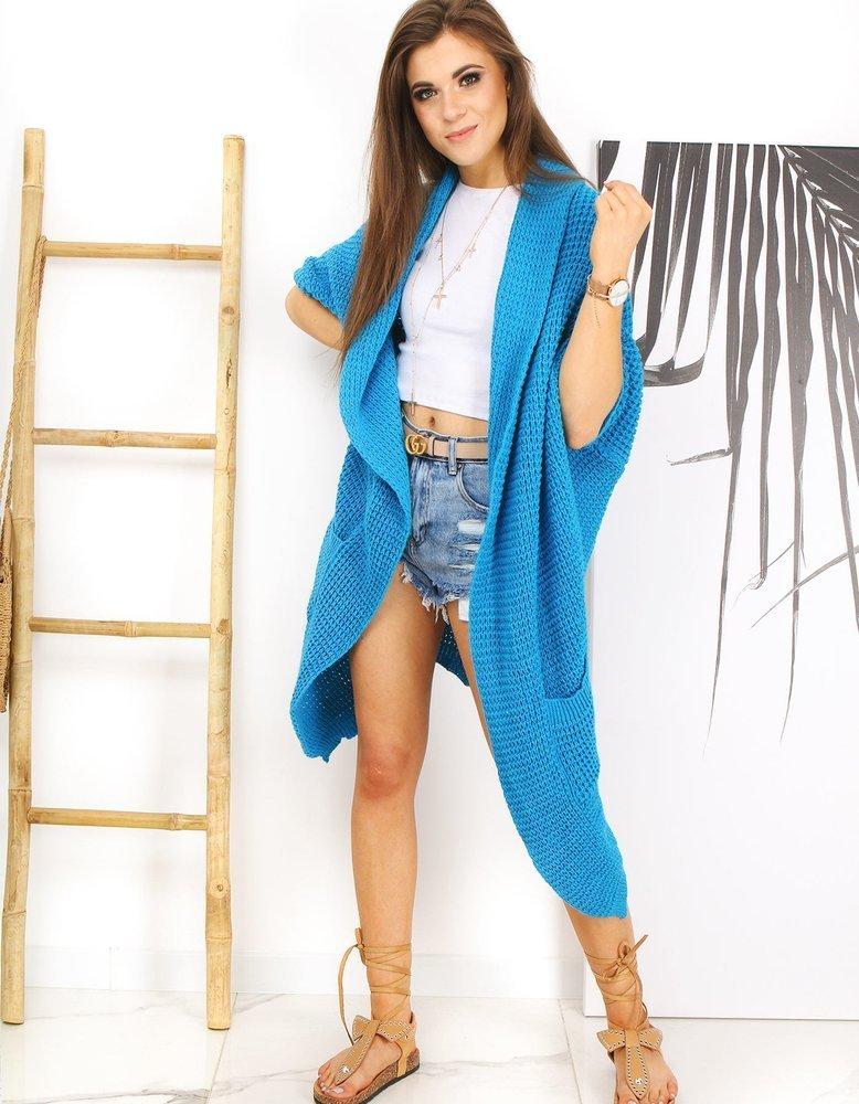 Sweter damski kardigan MOLLER niebieski Dstreet MY0764