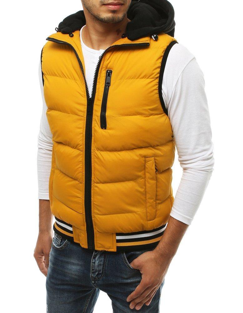 Žltá pánska vesta TX3361