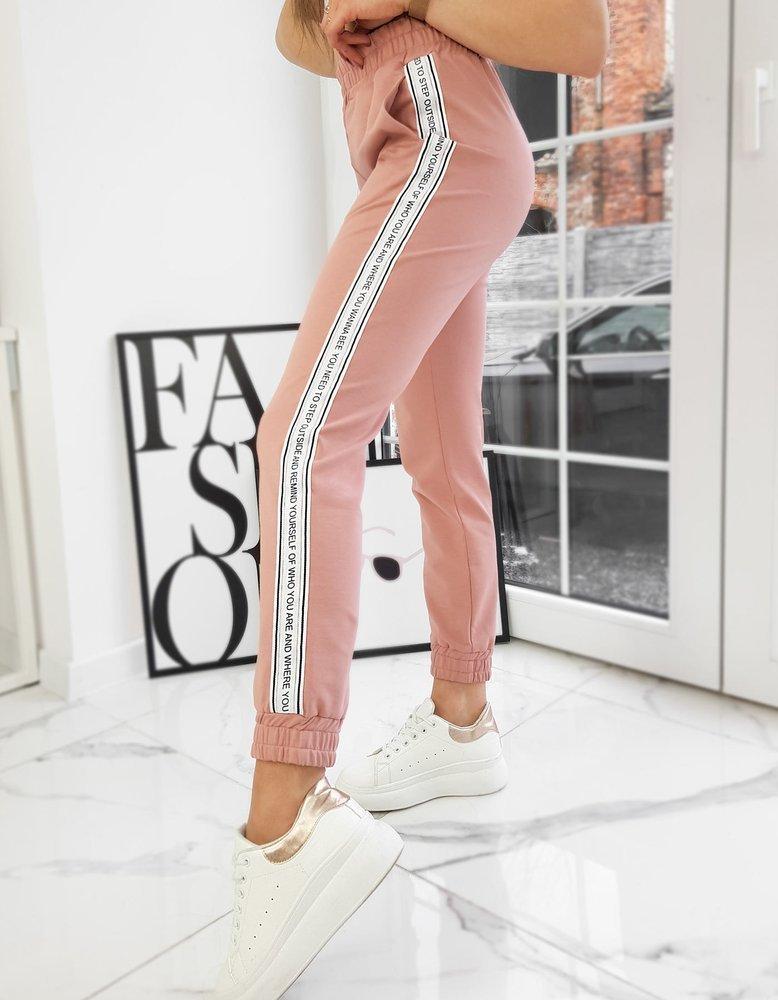 Spodnie damskie OUTSIDE różowe UY0749