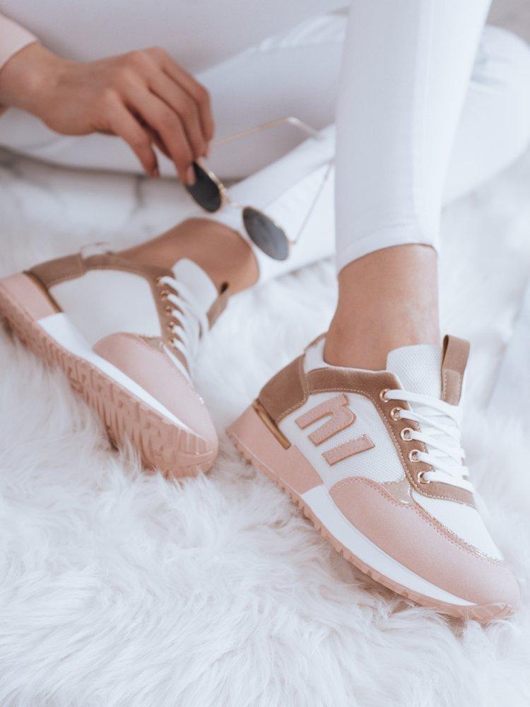 Sneakersy damskie LENSI różowe Dstreet ZY0038