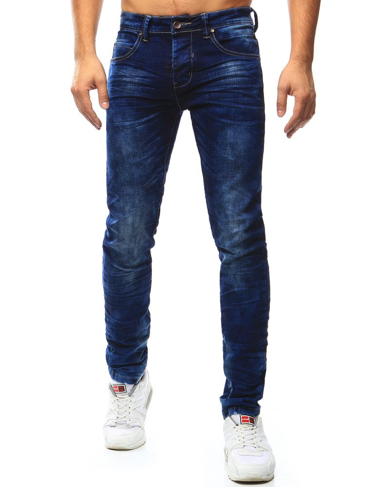 Spodnie jeansowe męskie niebieskie UX1004