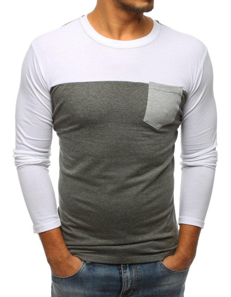 Tričko s dlhým rukávom antracitová