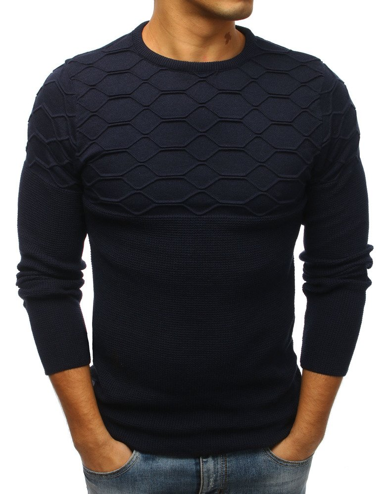 efb819f23e28 Pánsky sveter námornícka modrá
