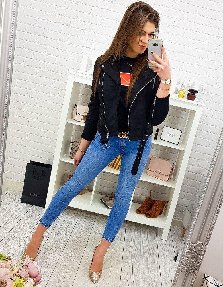 Čierna štýlová dámska bunda (ty0560)