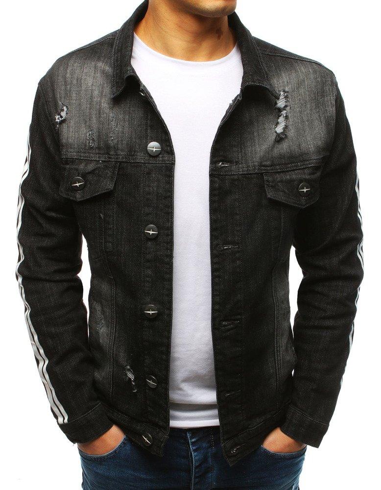 Pánska rifľová bunda čiernej farby (tx2635)