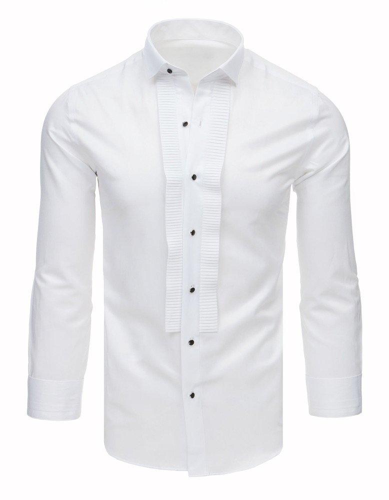 Košeľa s plisovaným /biela