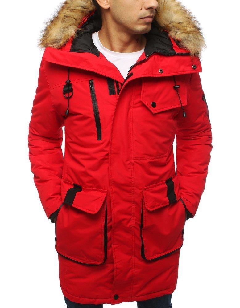 Červená zimná pánska bunda (tx3030)