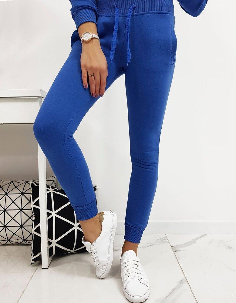 Spodnie dresowe FITT damskie niebieskie UY0207