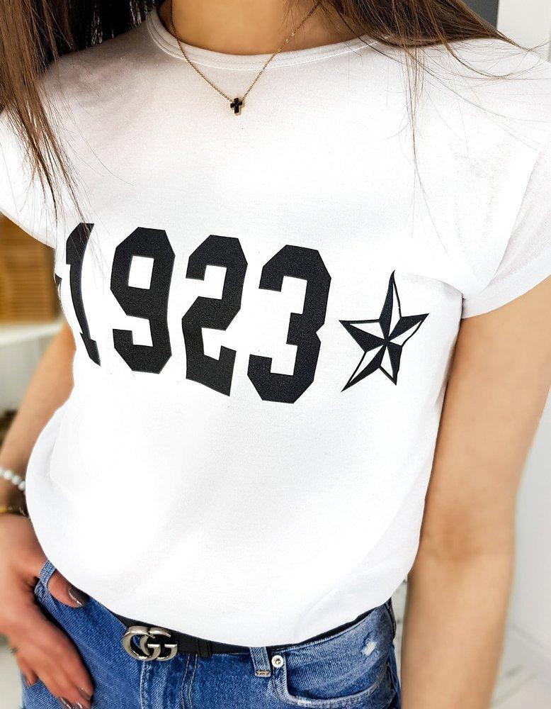 T-shirt damski NUMBER biały RY1320