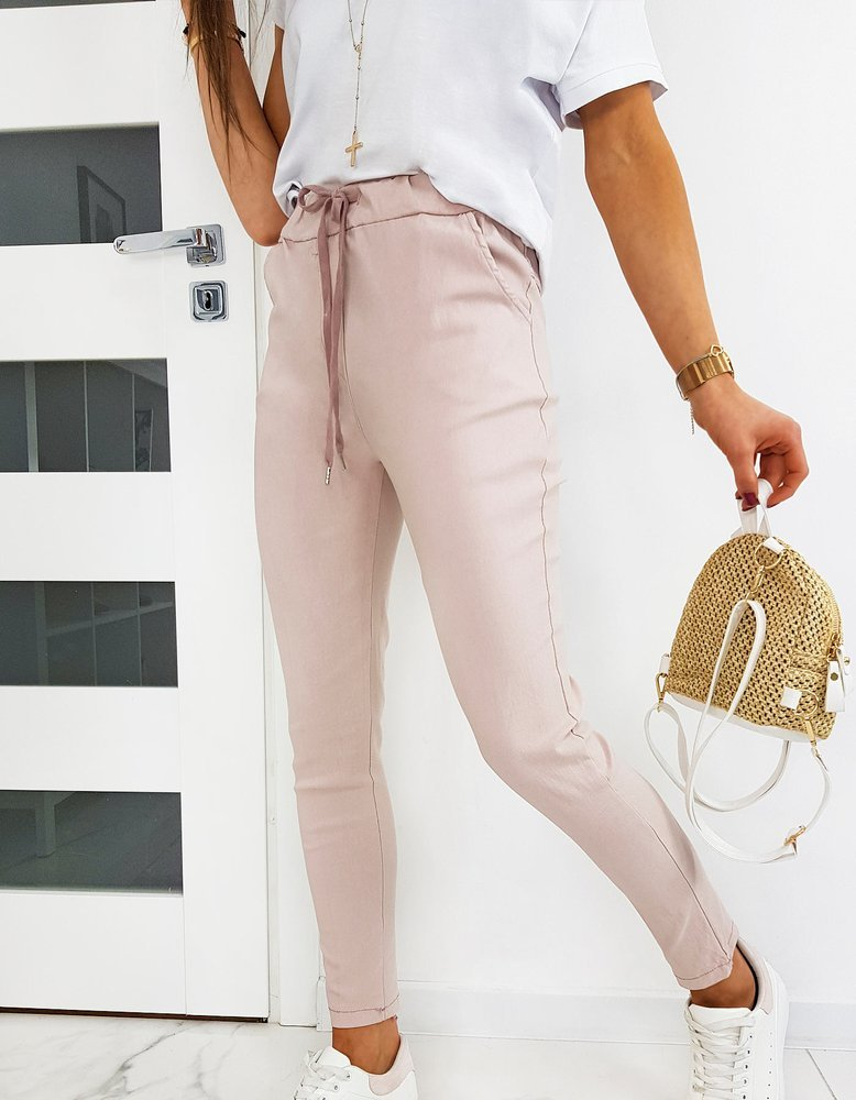 Spodnie damskie LONI różowe UY0501