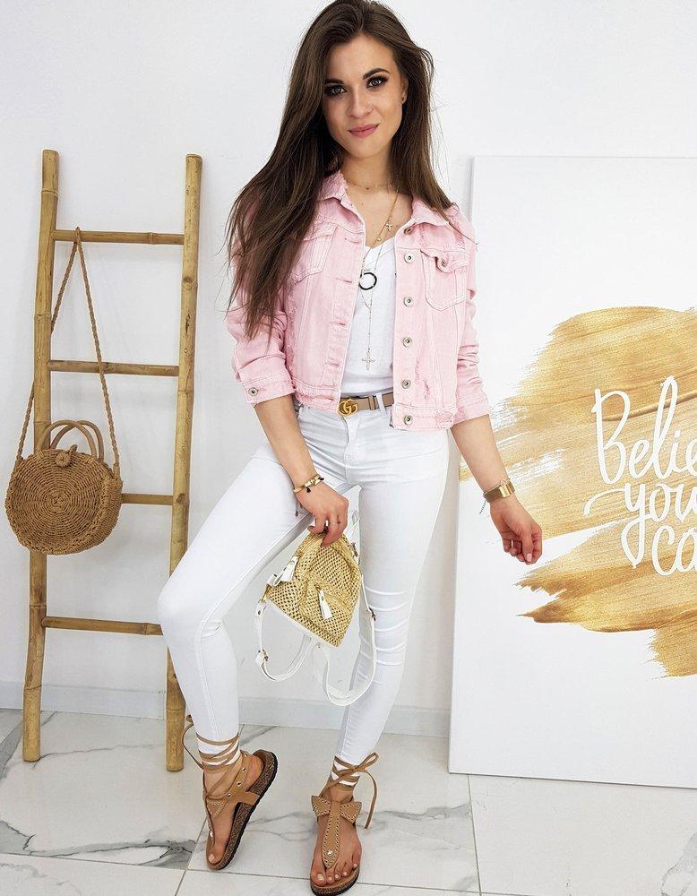 Kurtka damska jeansowa BUENOS różowa TY1246
