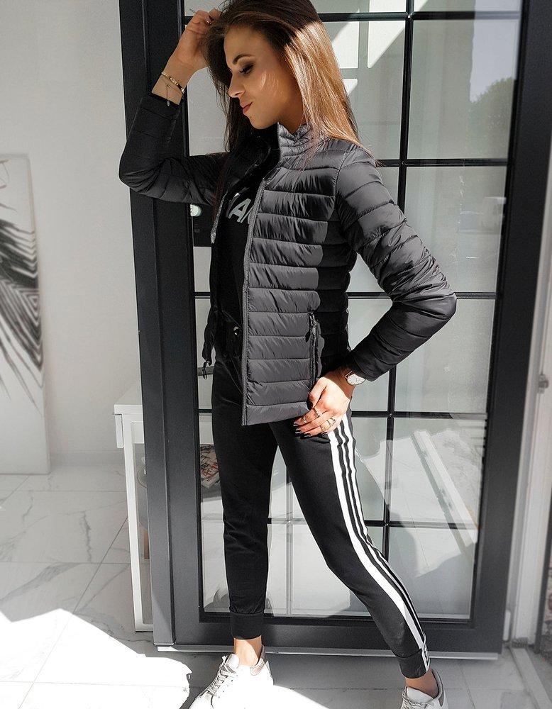 Čierna dámska bunda TY1541