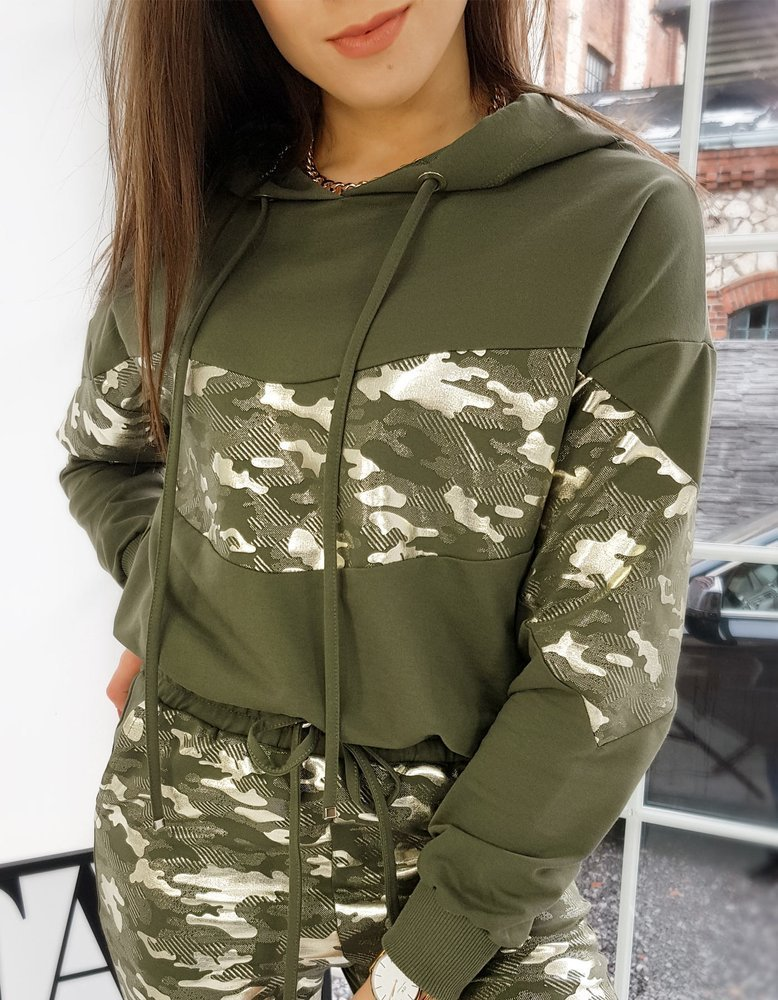 Bluza damska dresowa EVA II khaki BY0704