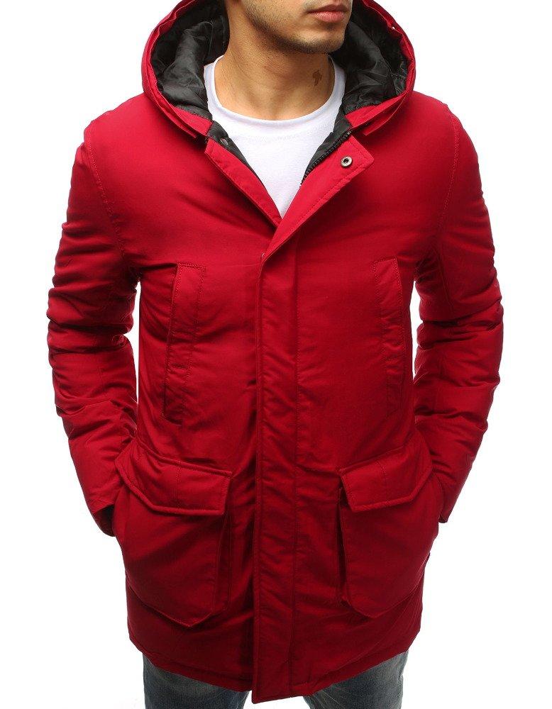 Pánska červená zimná bunda (tx2560)