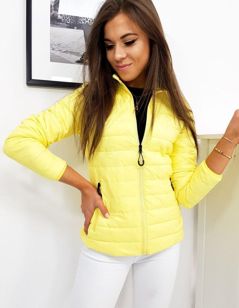 Jarná prešívaná bunda žltá
