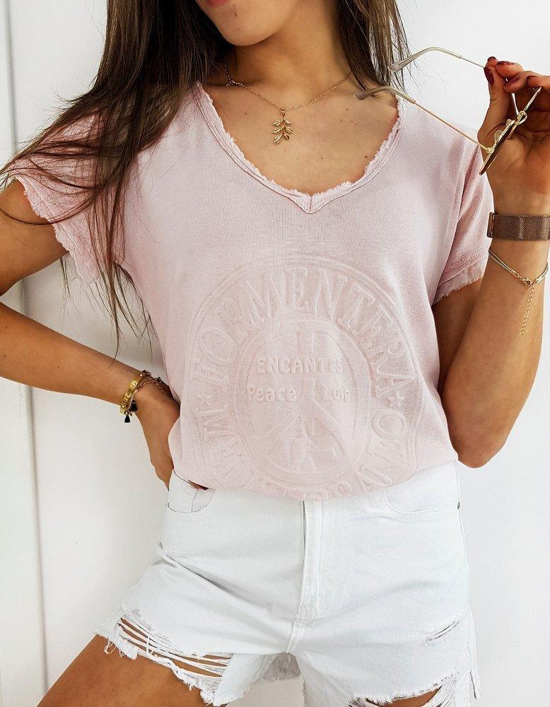 T-shirt damski FORMENTERA różowy RY1455