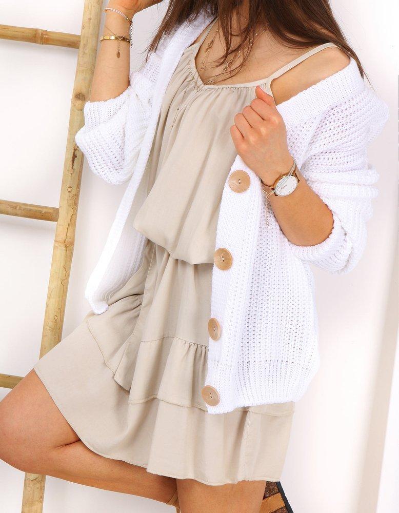 Sweter damski COMASSE biały MY0754