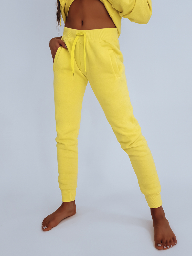 Spodnie damskie dresowe FITS żółte UY0534