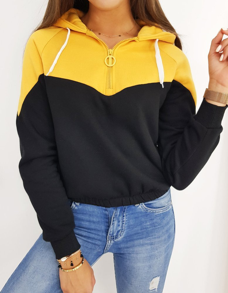 Bluza damska DUETO czarna BY0442