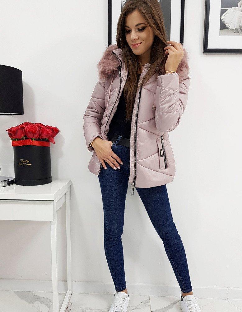 Ružová zimná dámska bunda CARLA (ty0998)