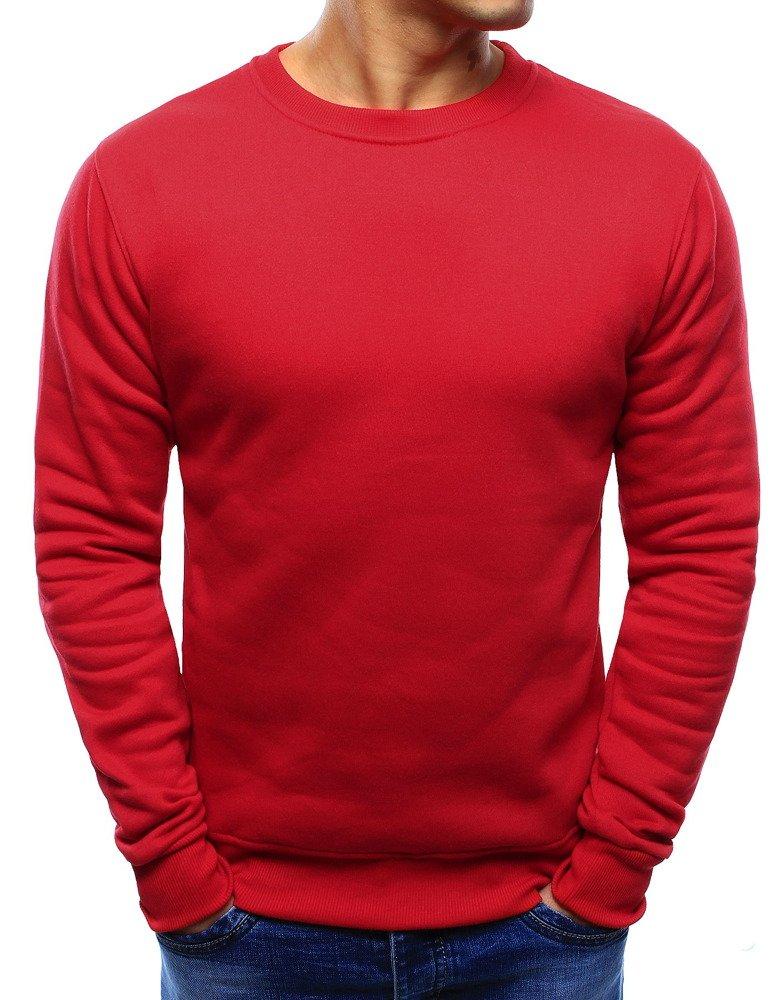 Jednoduchá pánska červená mikina (bx3867)