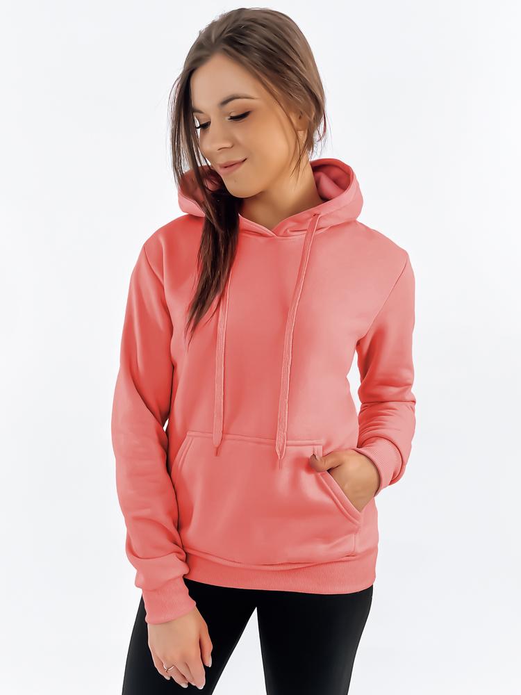 Bluza damska BASIC z kapturem różowa BY0280