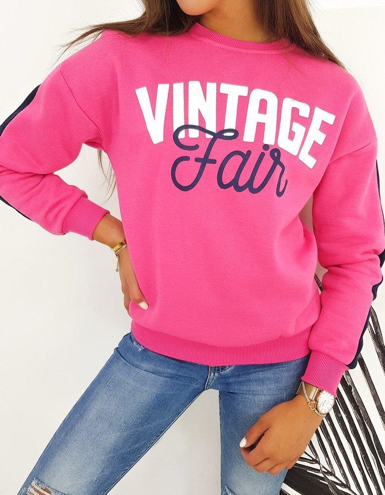 Bluza damska VINTAGE różowa BY0474