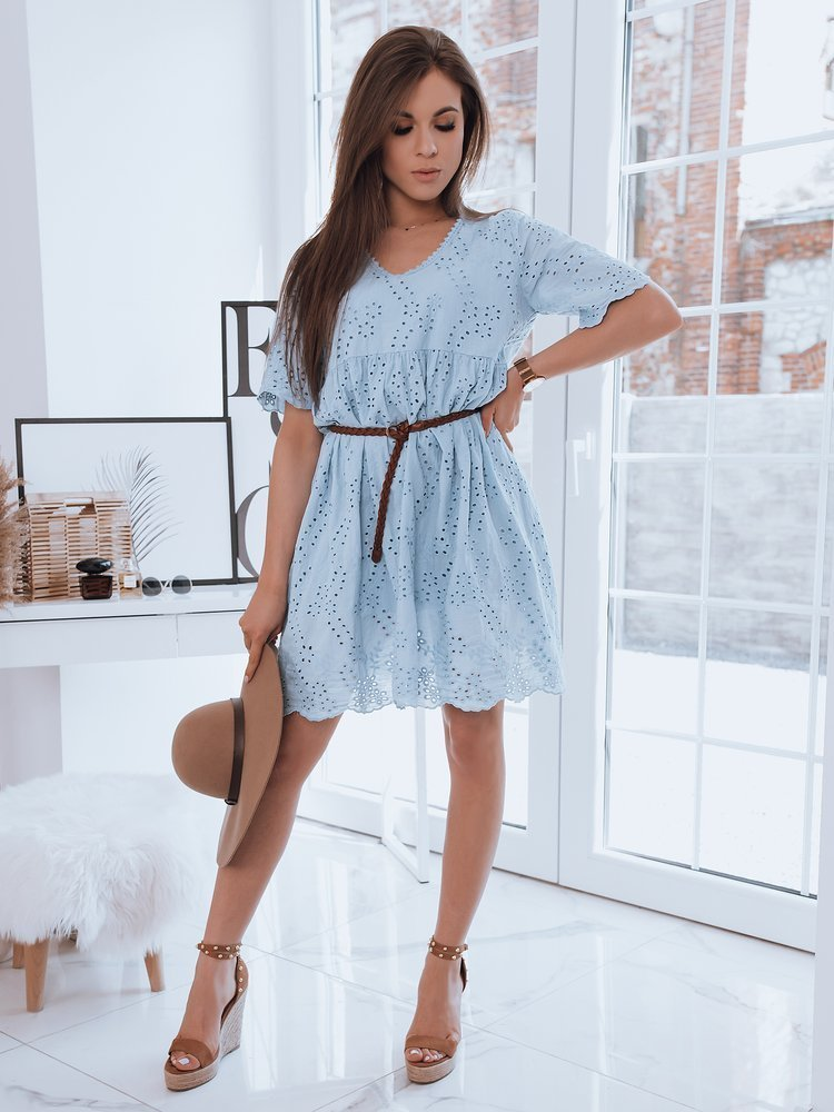 Dámske modré vzdušné šaty WELLIA.