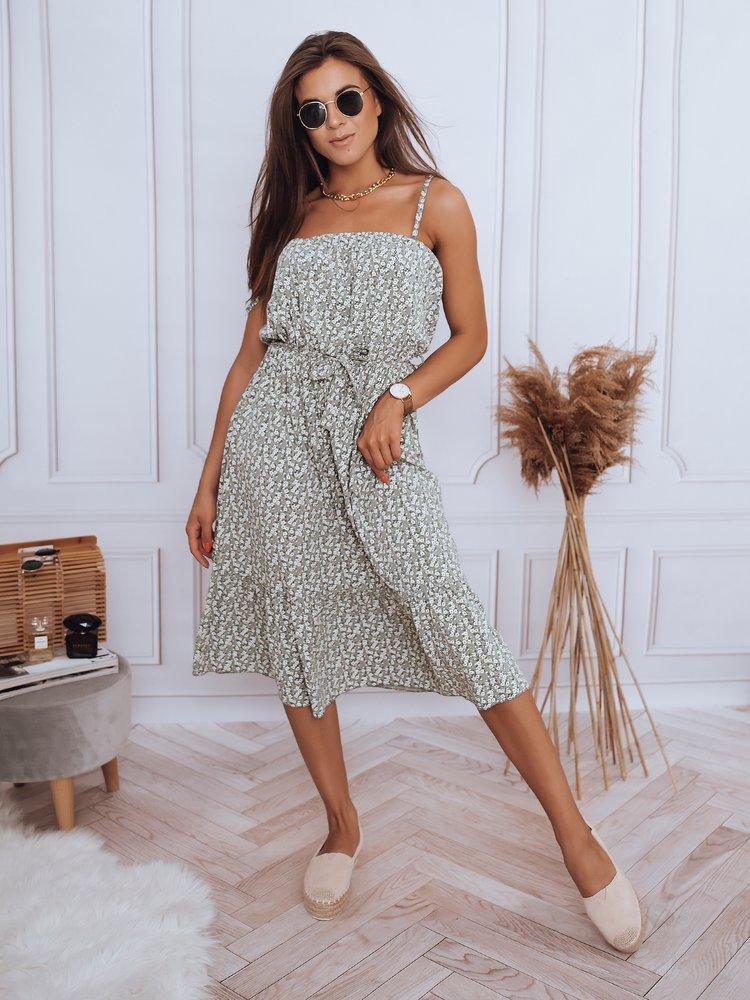 Sukienka w kwiaty DOLLA khaki Dstreet EY1850