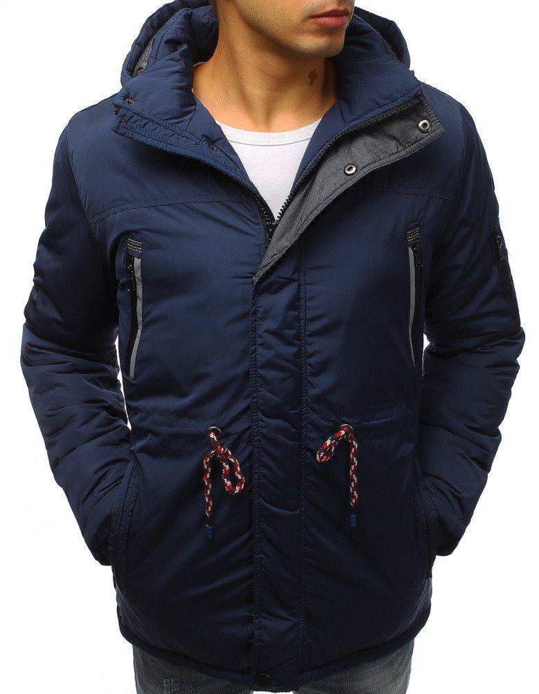 Pánska bunda na zimu v granátovom prevedení (tx2480)