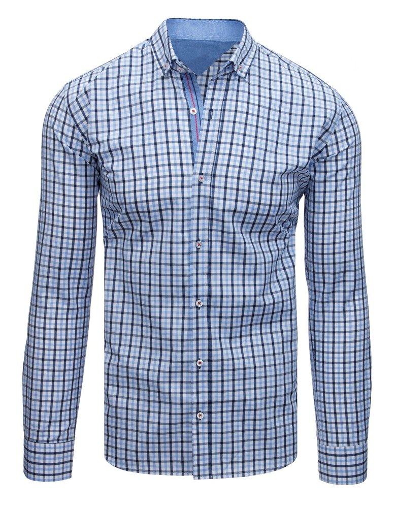 Elegantná košeľa bielo-modrá