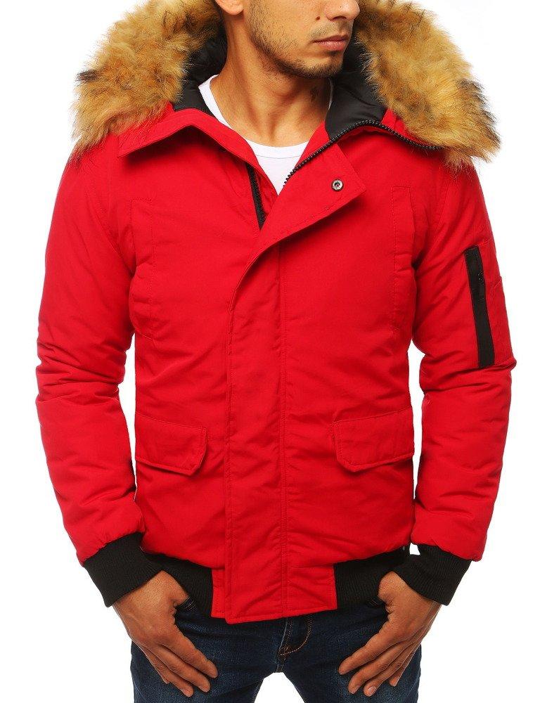 Červená pánska zimná bunda (tx2875)