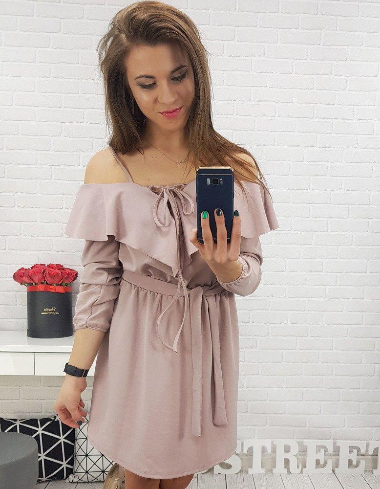 Ružové dámske šaty (ey0637)
