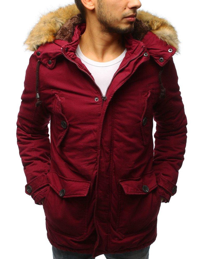 Pánska bordová bunda na zimu (tx2542)