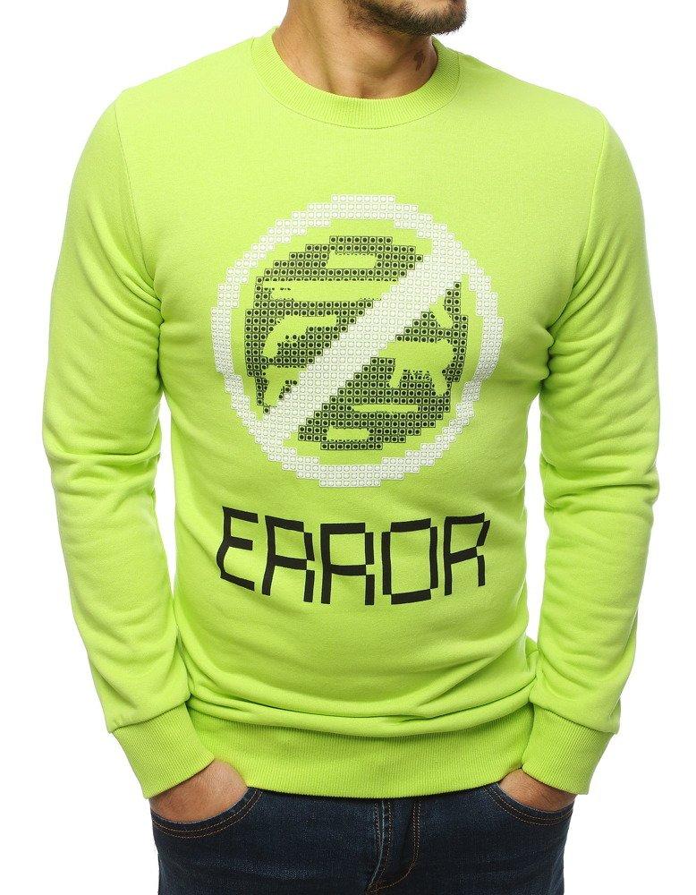 Bluza męska z nadrukiem zielona BX4221