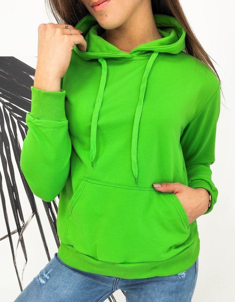 Bluza damska MODIVOS zielona BY0583