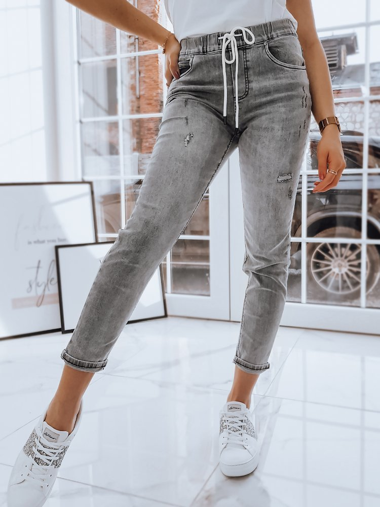 Spodnie damskie LOKY jasnoszare UY0723