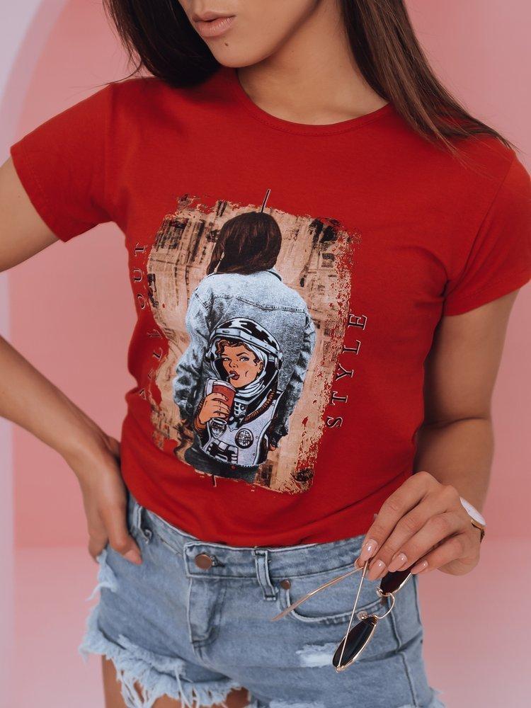 T-shirt damski OUT STYLE czerwony Dstreet RY1777