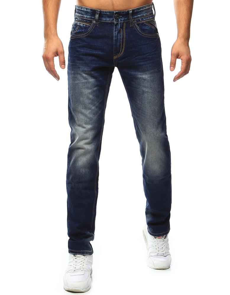 Spodnie jeansowe męskie granatowe UX0912