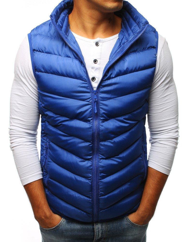 Pánska prešívaná vesta modrá