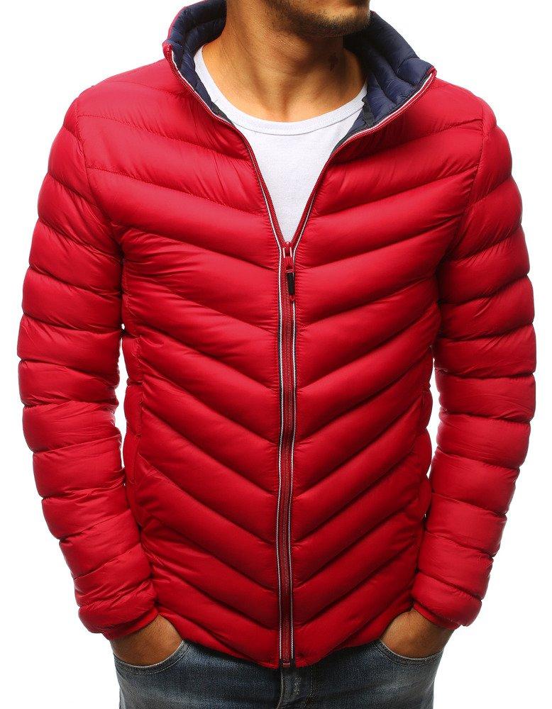 Pánska zimná bunda červená (tx2376)