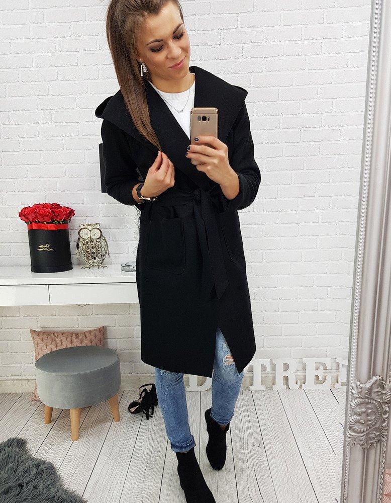 Płaszcz damski LUSSO czarny (ny0146)