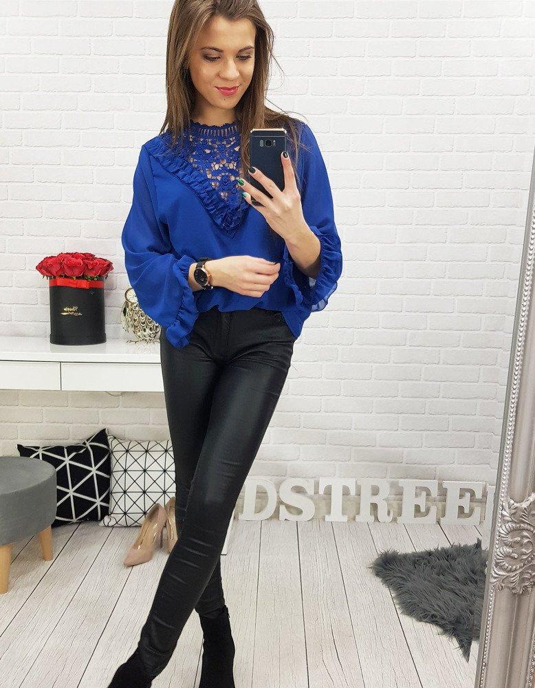 Bluzka damska MELLA niebieska RY0565