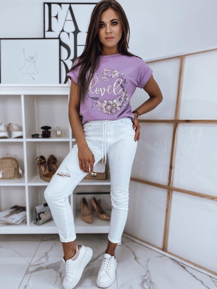 T-shirt damski LOVELY MORE lila RY1407
