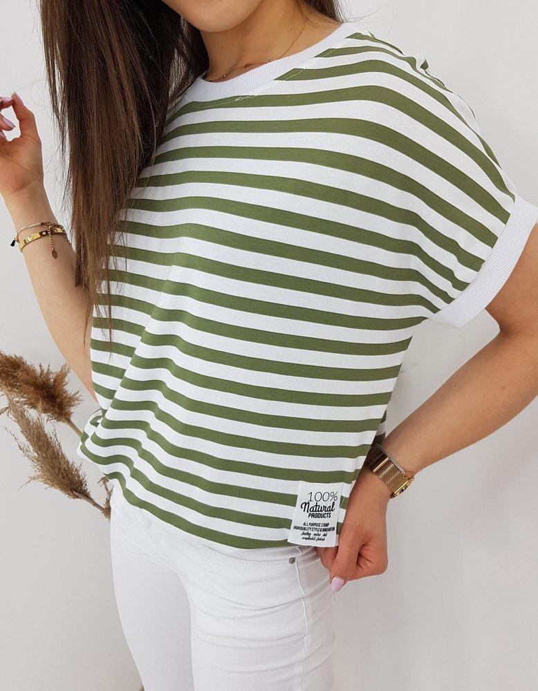 T-shirt damski NATURAL oliwkowy RY1544
