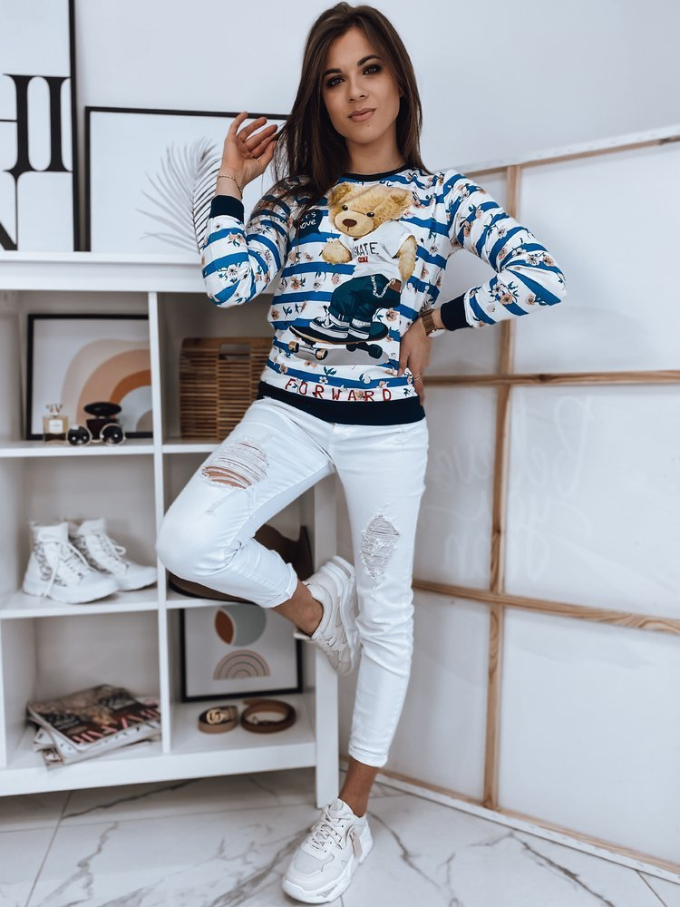 Bluza damska BEAR II biała Dstreet BY0871
