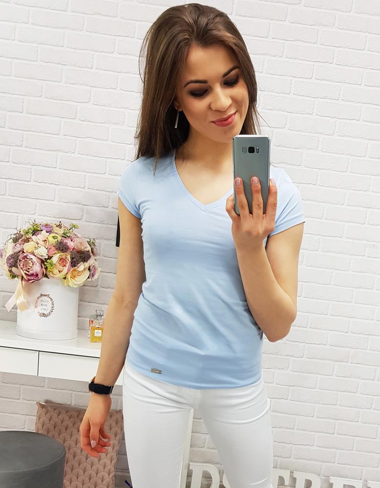 T-shirt damski BASIC BLUE (ry0315)