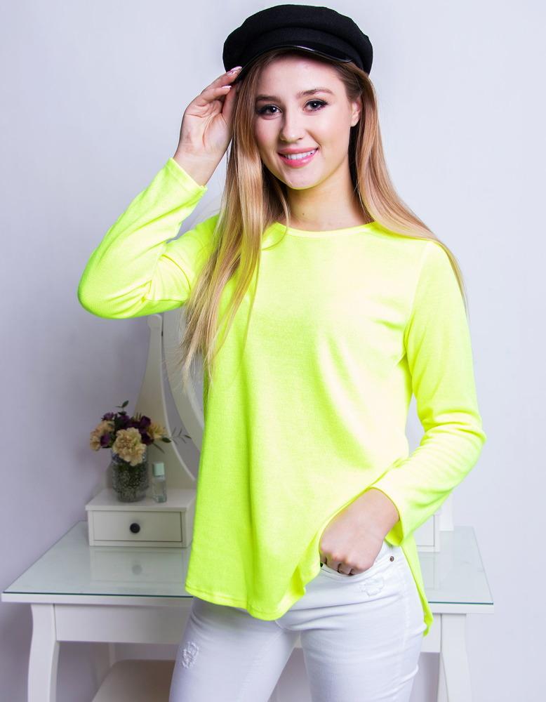 Bluzka damska KAYA neonowa żółta RY0644