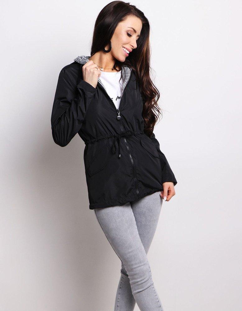 Čierna obojstranná dámska bunda (ty0631)